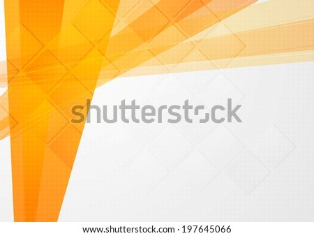 Abstract orange technical backdrop. Vector design - stock vector