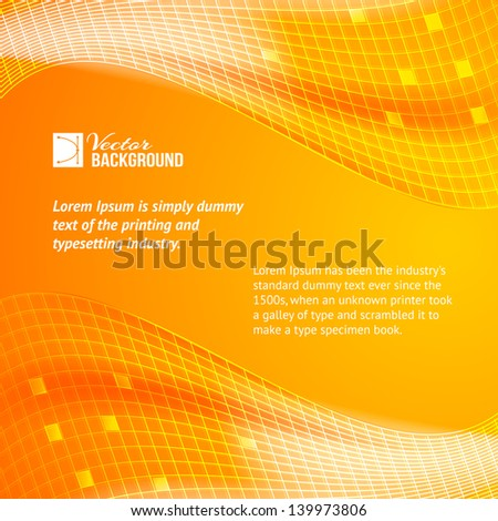 Abstract orange tiles background. Vector illustration