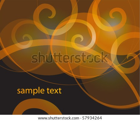 abstract orange vector background - stock vector