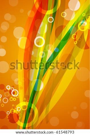 Abstract orange vector design - stock vector