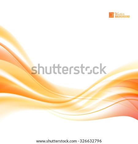 Abstract orange wind. Abstract smooth background lines for your text. Vector illustration, contains transparencies, gradients and effects. - stock vector