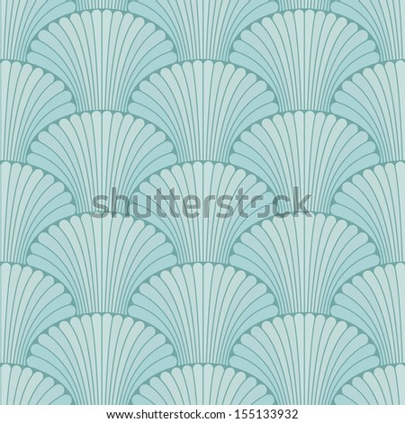 Abstract oriental style seamless background - stock vector