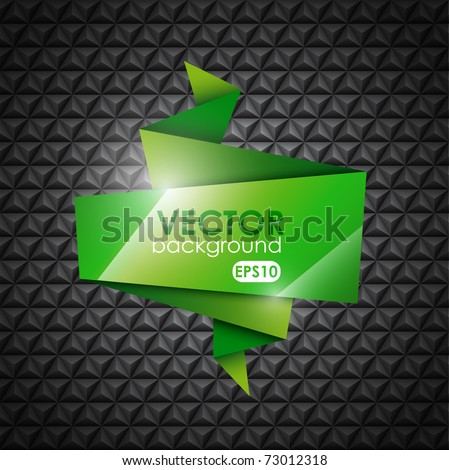 Abstract Origami Background - stock vector