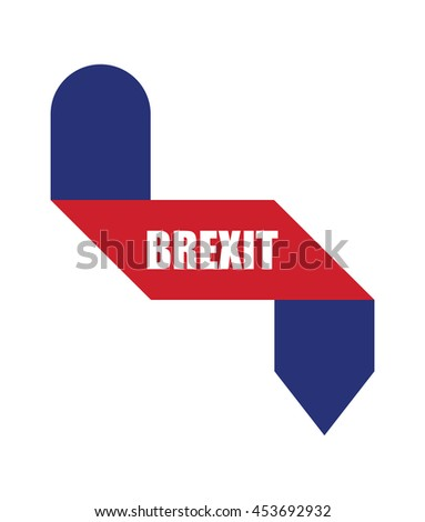 abstract origami design, brexit banners - stock vector