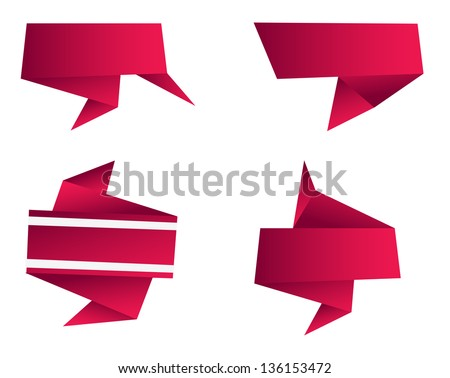 Abstract Origami Shape - stock vector