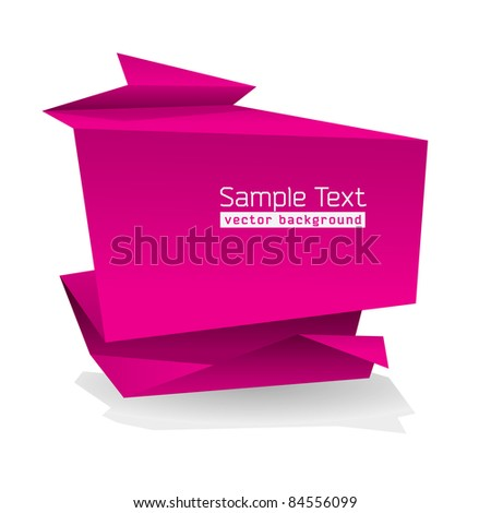 Abstract Origami Shape With Space For Text - stock vector