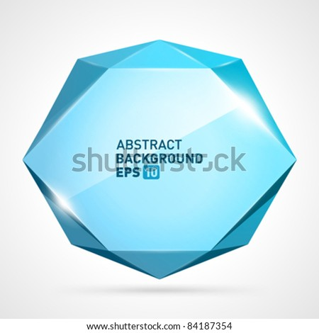 Abstract origami speech bubble vector background eps 10 - stock vector