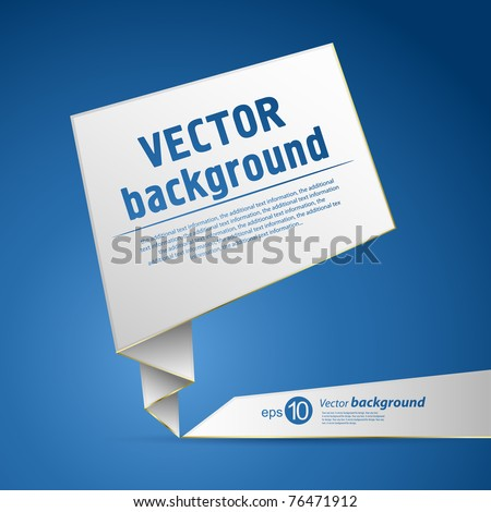 Abstract origami speech vector background - stock vector