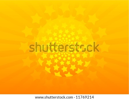 Abstract original vector background stars frame illustration - stock vector