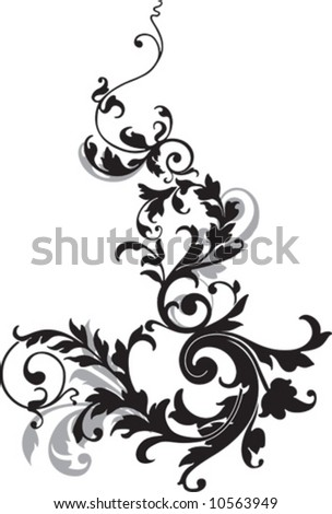 Abstract ornament, illustration with floral design elements, vector. - stock vector