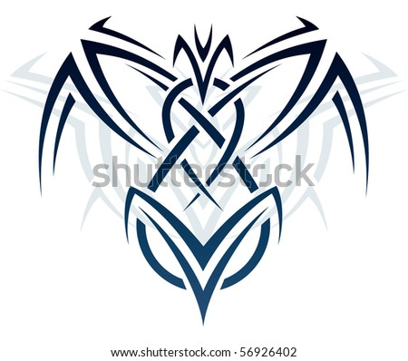 Abstract ornament in the style of tattoos - stock vector