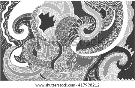 Abstract ornamental background with natural shapes. Template for design and decoration - stock vector