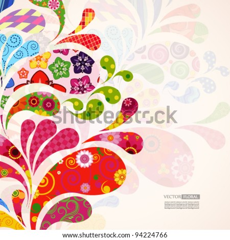 Abstract ornamental floral background. - stock vector