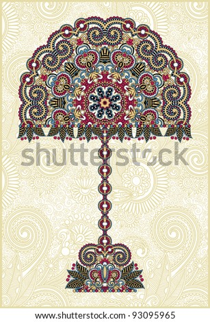 abstract ornamental floral tree - stock vector