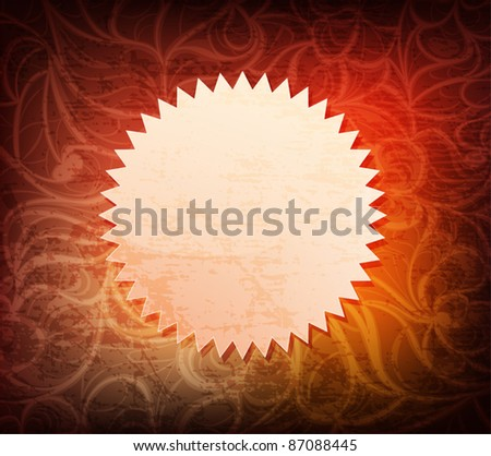 Abstract ornamented background with banner. Eps10 vector