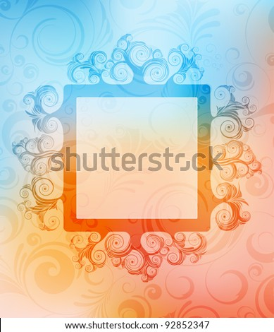 abstract ornamented background with frame. eps10 vector