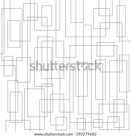 Abstract outline squares. Vector background