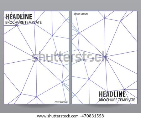 Abstract Outline Vector Modern Brochure Flyer Stock Vector Hd