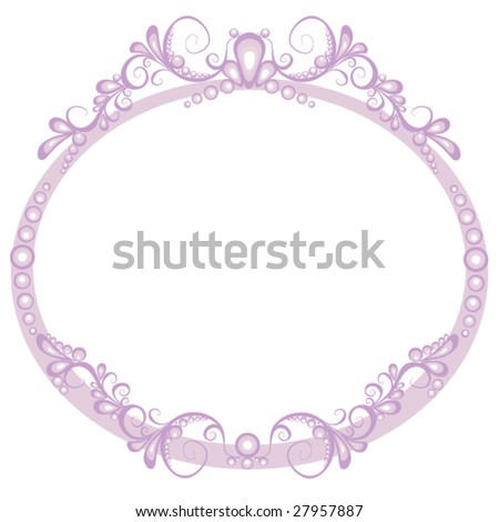 Abstract oval frame - stock vector