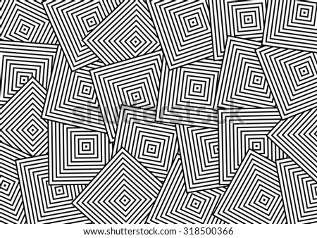 Abstract Overlap Square Pattern. Vector - stock vector