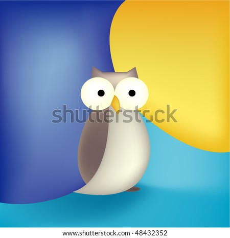 Abstract owl, check out my portfolio :) - stock vector