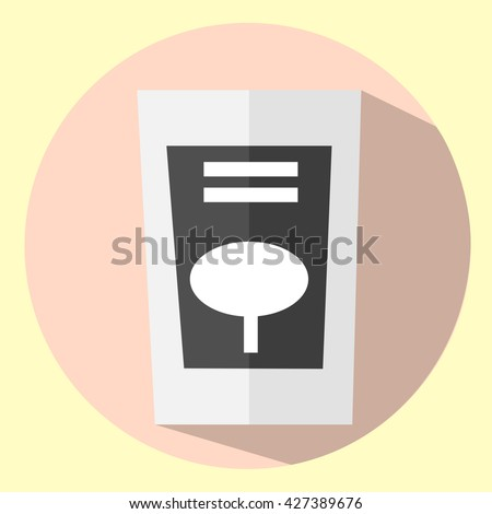 Abstract pack icon. Vector good sign. Modern store item.  - stock vector