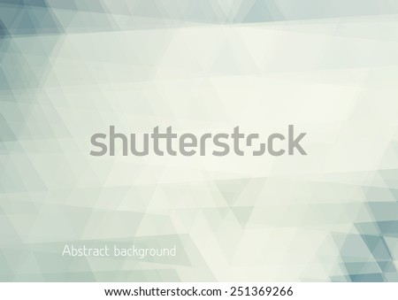 Abstract pale background textured by triangles. Horizontal vector pattern - stock vector