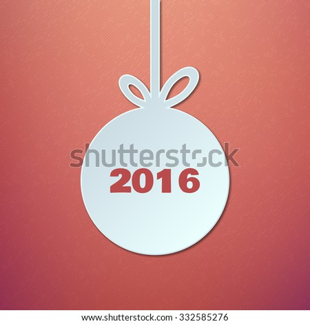 Abstract Paper Christmas Ball Vector