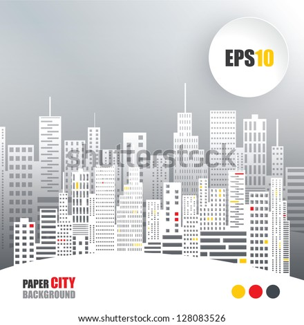 Abstract Paper City - stock vector