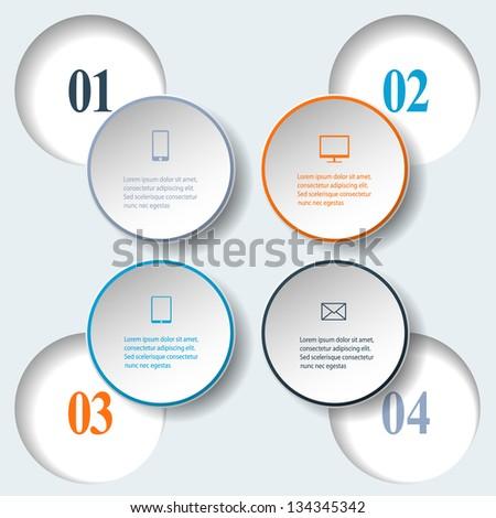 Abstract paper infografics. Internal and external data concept. Vector eps10 illustration - stock vector