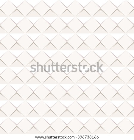 Abstract paper shape banner. Paper sheet with drop shadows on white background. Vector illustration. Seamless pattern - stock vector