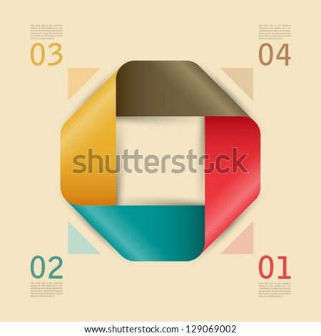 Abstract paper web template. Vector illustration. - stock vector