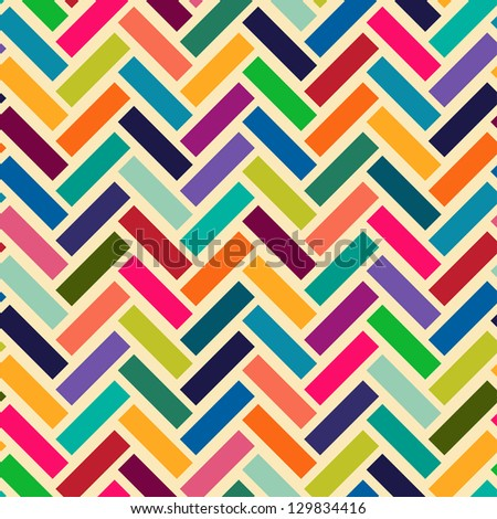 Abstract parquet background. Seamless pattern. - stock vector