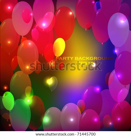 Abstract party background - stock vector