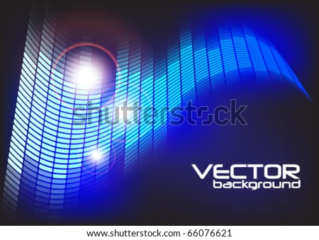 Abstract Party Background - Blue Equalizer - stock vector
