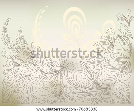 abstract pastel background with stylized vegetable pattern - stock vector