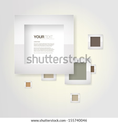 Abstract pastel color frames design vector background for your text Eps 10 vector illustration