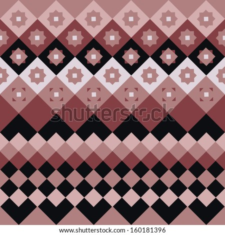 Abstract pattern an ornament and squares - stock vector