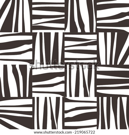 Abstract pattern. Geometric  background. Monochrome  wallpaper. Exotic black and white  pattern. Vector illustration. - stock vector