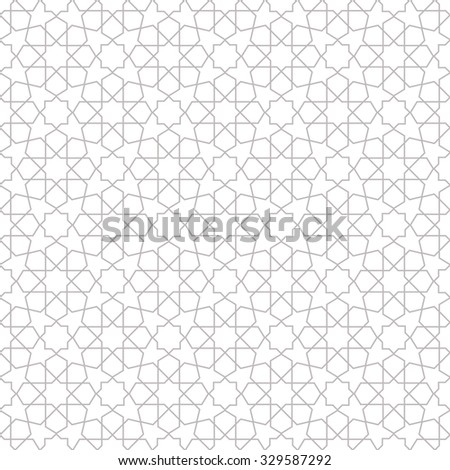 Abstract pattern in Arabian style. Seamless vector background. Gray and white texture - stock vector