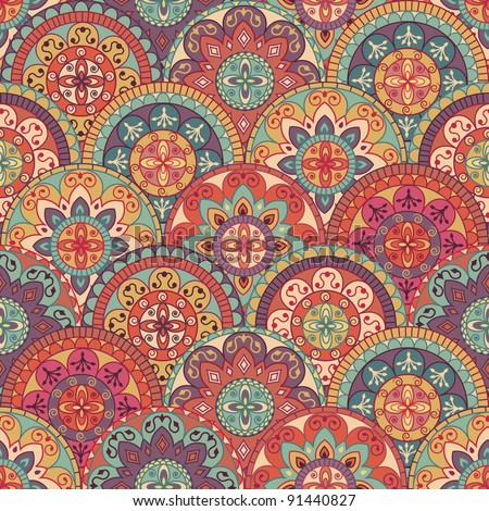 abstract pattern in retro style - stock vector