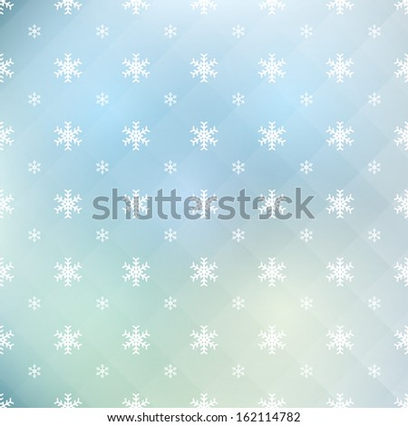 abstract pattern of snowflakes. vector eps10 - stock vector