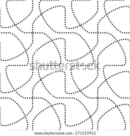 Abstract pattern. Seamless vector background. Black and white texture with dots.