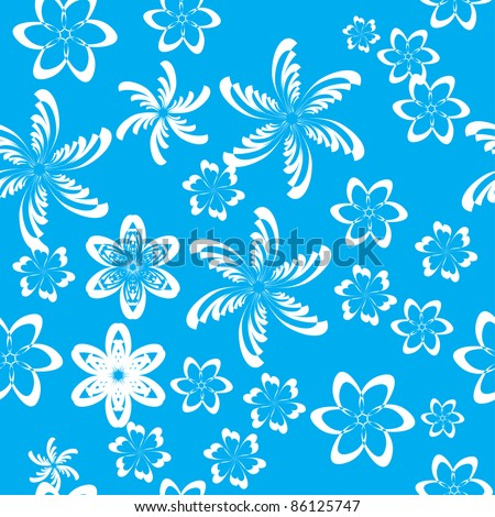 abstract pattern with flowers. illustration