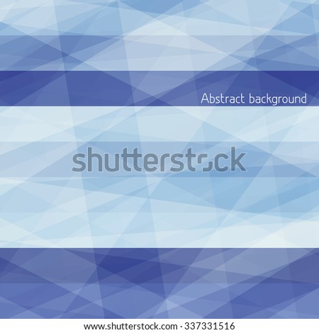 Abstract pattern with horizontal rich blue stripes. Vector graphic background. CMYK color mode - stock vector