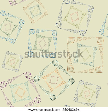 Abstract pattern with the ancient east ornament - stock vector