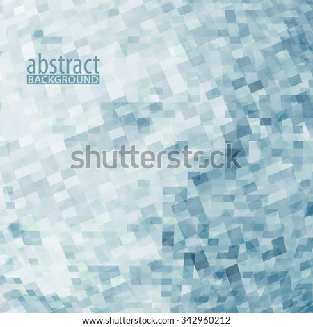Abstract pattern with transparent chaotic pixels on white background. Vector graphic - stock vector