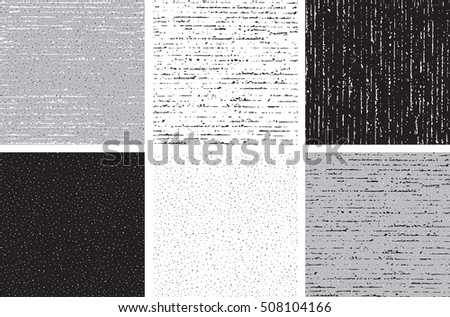 Abstract patterns. Set of vector seamless  dirty backgrounds