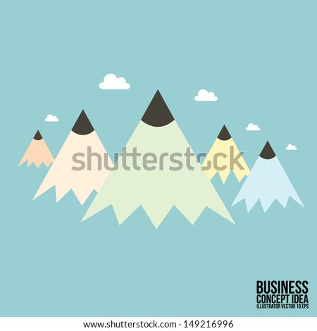 Abstract Pencil concept Business idea - stock vector