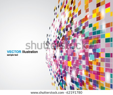 Abstract perspective background - stock vector